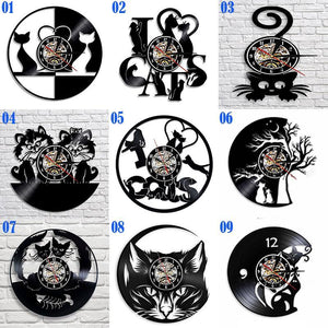 VINTAGE LED CATS WALL CLOCK