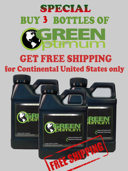 Green Optimum 3 Pack free shipping for Continental United States only