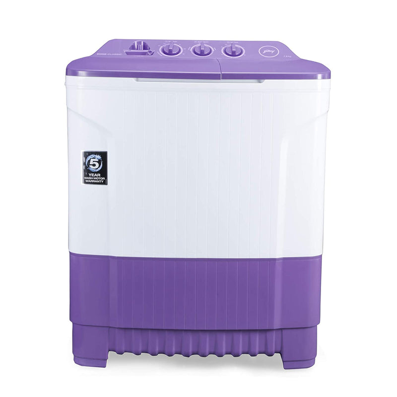 Godrej 7.5 Kg Semi-Automatic Top Loading Washing Machine (WS EDGE CLS 7.5 PN2 M ROPL, Royal Purple) Godrej