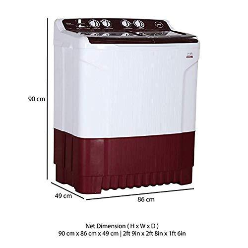 Godrej WS AXIS 7.0 WN RD PN2 T Semi-Automatic Washing Machine (7 Kg, Wine Red) Godrej