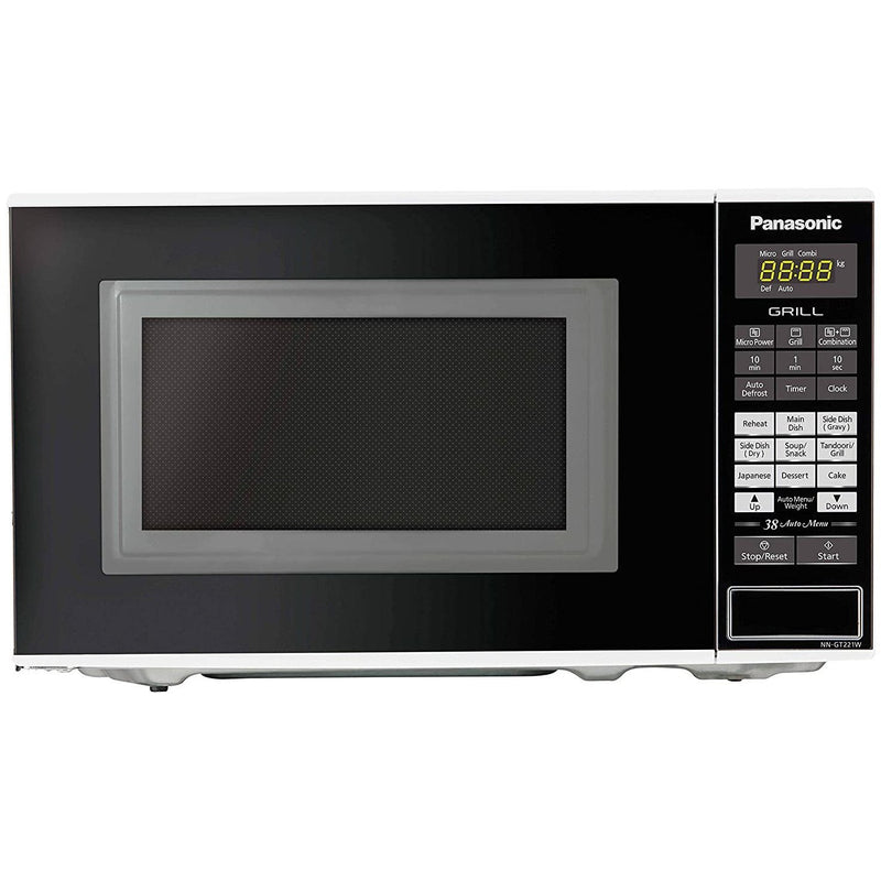 Panasonic 20L Grill Microwave Oven(NN-GT221WFDG,White, 38 Auto Cook Menus ) with Starter Kit Panasonic