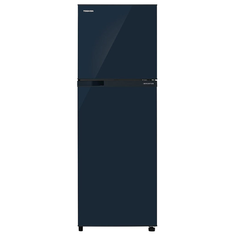 Toshiba REF 272 Ltr, Frost Free, Real Inverter, Silver Bio Deodorizer, Glass Door Finish (Blue) Toshiba