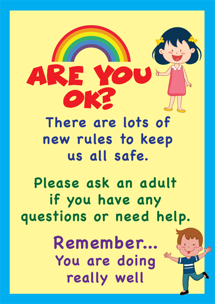 "Schools ""Are You OK?"" Poster in A4, A3 or A2 -  Yellow and Blue"