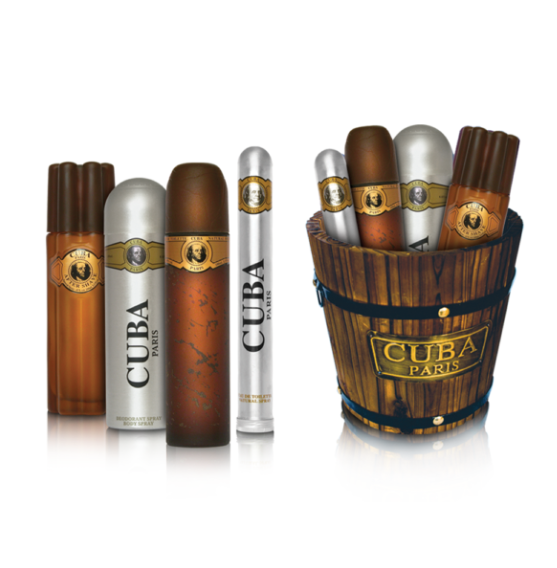 Set Cuba Gold (M) 4 pc Collection in Wood Bucket