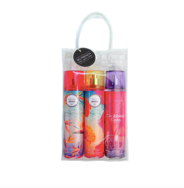 Set Body Spray 3 pc European Vacation Collection (L) 3 x 240 ml