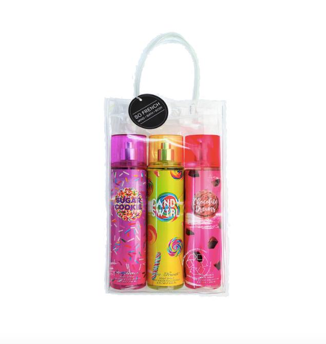Set Body Spray 3 pc Sweet Tooth Collection (L) 3 x 240 ml