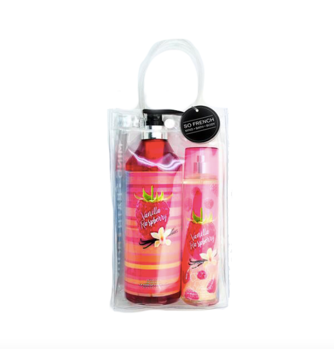 Set Vanilla Raspberry 2 Pc Shower Gel & Body Mist (L) 800 ml & 240 ml