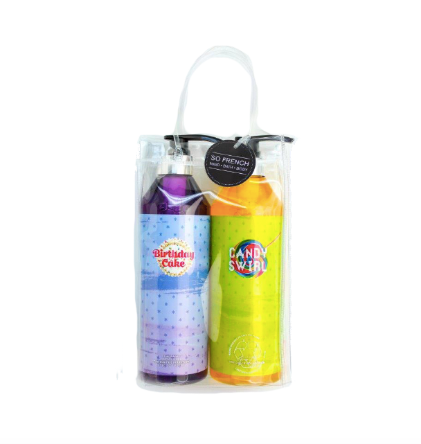 Set Birthday Cake & Candy Swirl Shower Gel (L) 800 ml x 2