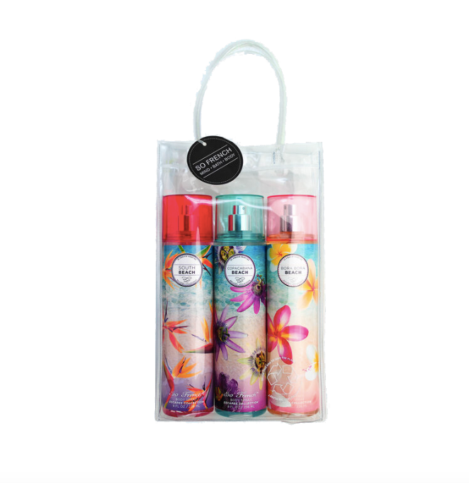 Set Body Spray 3 pc Beach Collection (L) 3 x 240 ml