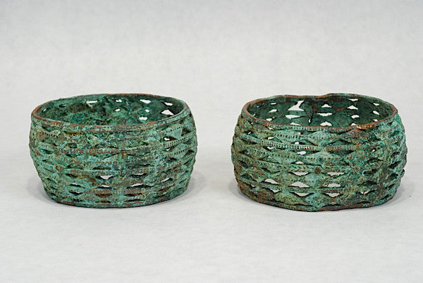 a pair of fine akan anklets