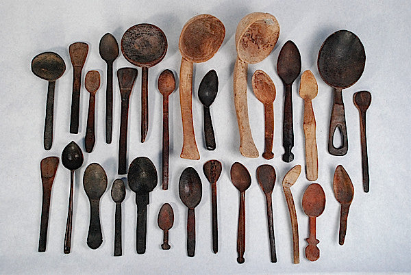 a world-wide collection of wooden spoons