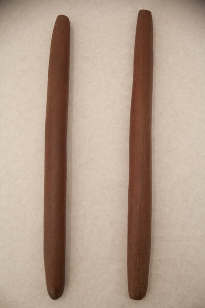 2 ABORIGINAL CLAPSTICKS