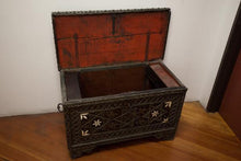an open Moroccan Jewish Dowry Chest