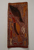 an aboriginal birds fish bark painting
