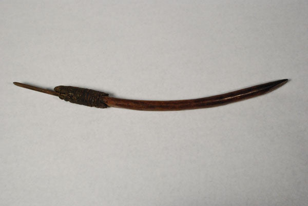 An aboriginal trade chisel from Central Australia with an arching shape