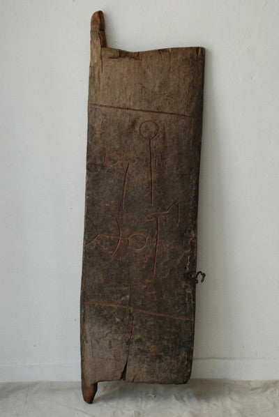 Tonga Door With Etched Figures