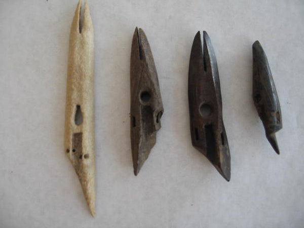 3 Old Bering Sea ancient Harpoon Heads