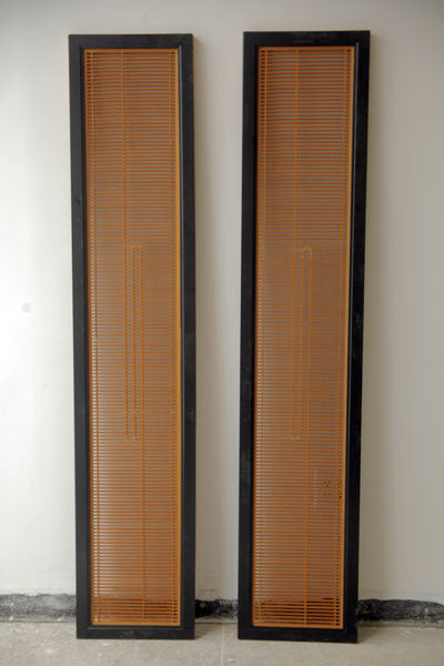 a pair of  wooden Japanese House Panels