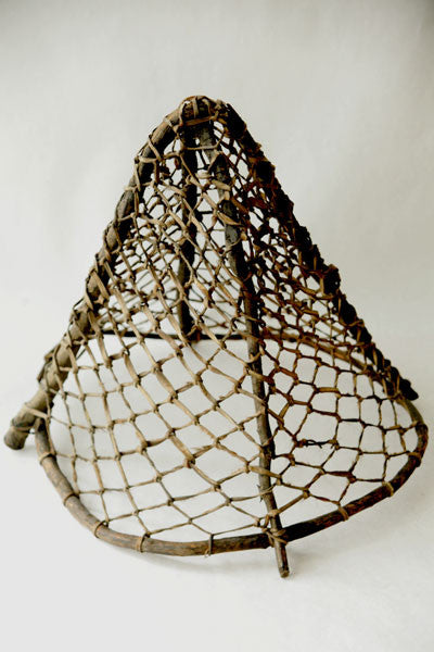 Eskimo fishing net made of wood and sinew