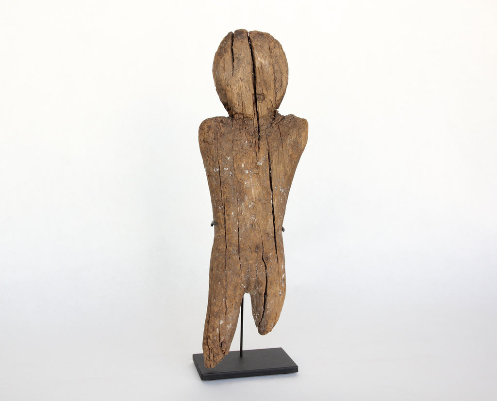 Exceptionally Large Bering Straits Wooden Effigy