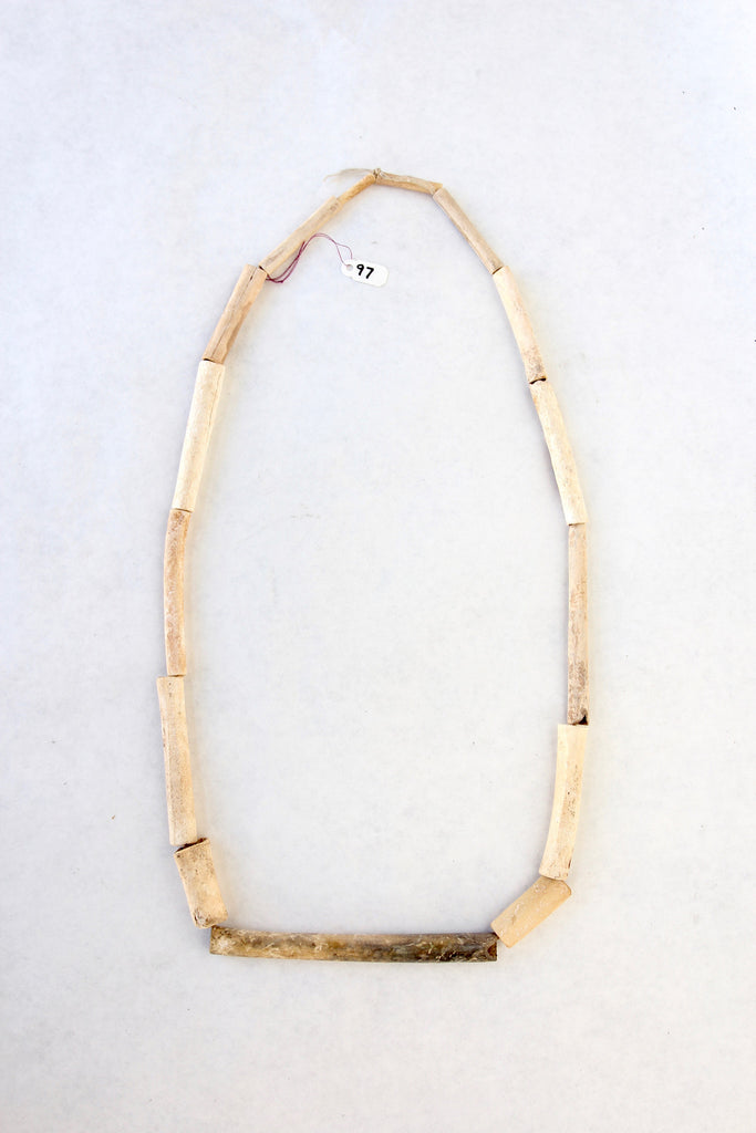 S. California Indian Bone Tube Bead Necklace