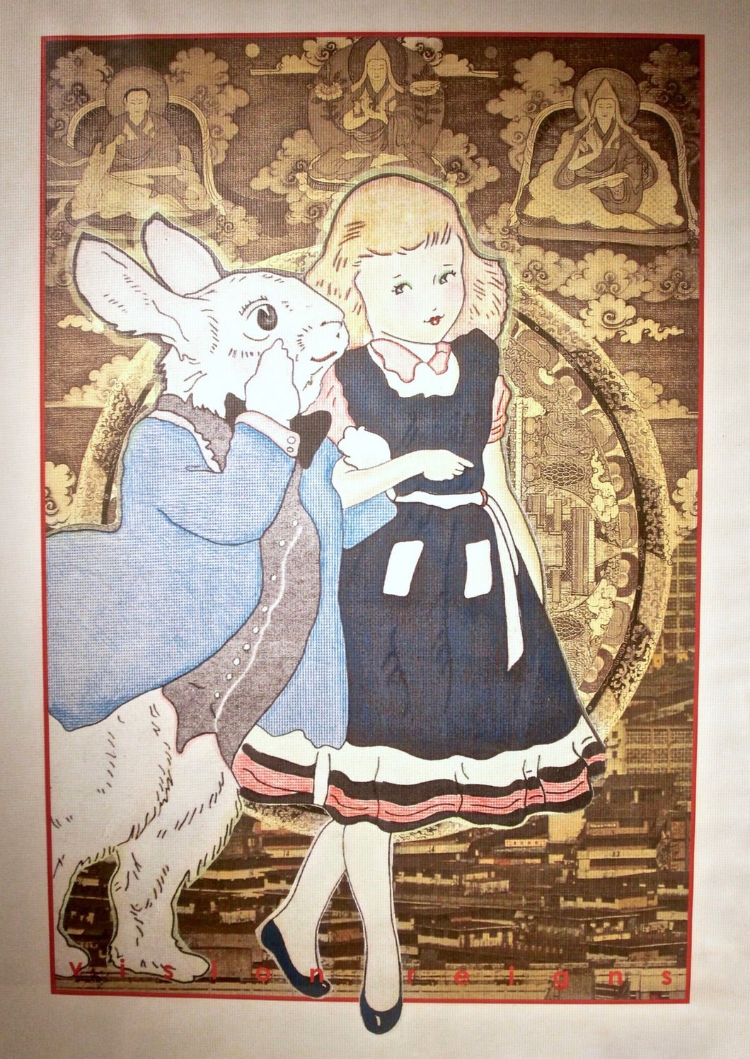 Alice and the Lamas, original art by Jacqueline Pitman