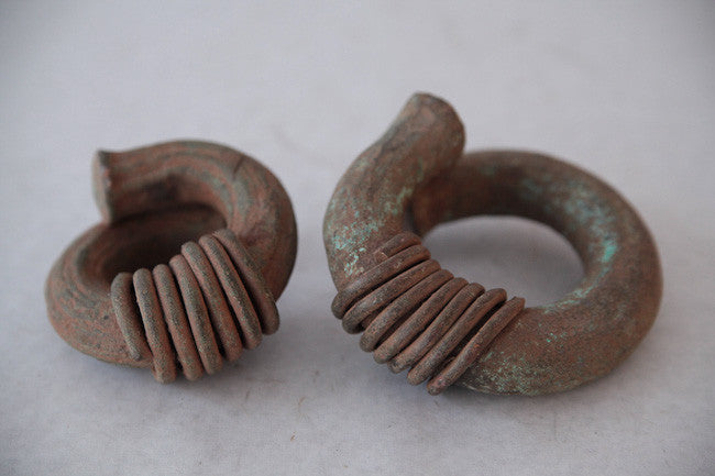 Two Congo Currency Coils