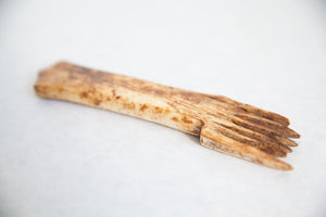 prehistoric Inuit ivory comb with 6 fingers