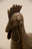 head of a Nigerian Rooster in Bronze