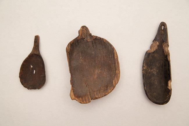 3 ANCIENT INUIT SPOONS