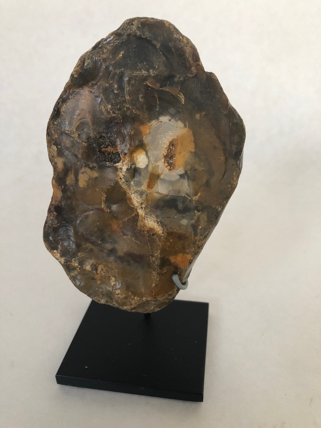Lower Paleolithic Handaxe with Quartz Micro Crystal Eyes