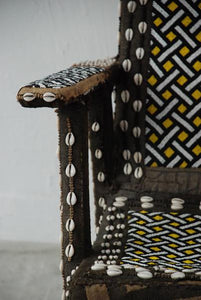 Traditional Kuba Beaded Chiefäó»s Chair