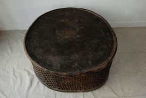 Large West African Cameroon Circular Table