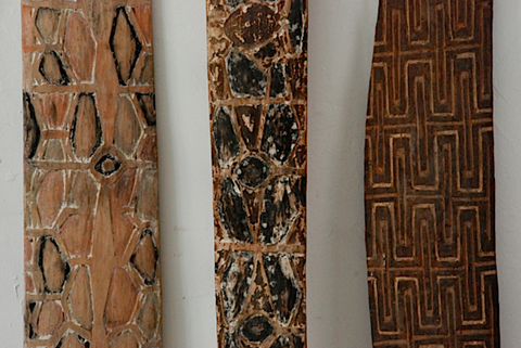 3 New Guinea Ceremonial Boards
