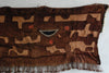 African Bakuba Dancing Cloth with patch work of irregular shapes