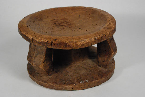 An old Lega stool with glossy patina from the Congo
