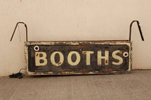Booth Sign 1920-1930'S America