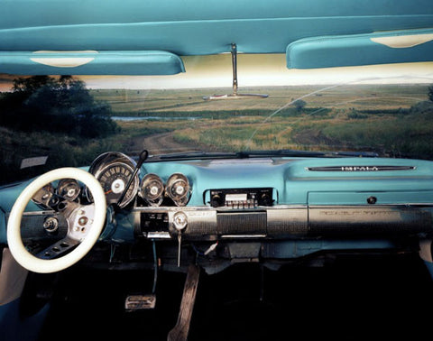 Las Vegas, New Mexico, Looking East from Myles Sweeney's Chevrolet Impala, July 1987 - Alex Harris