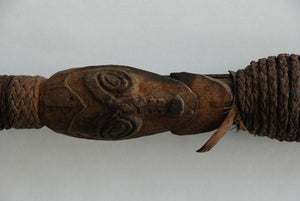 Coastal Sepik New Guinea spear with abstract designs