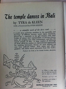 The temple dances in Bali, Ethnos