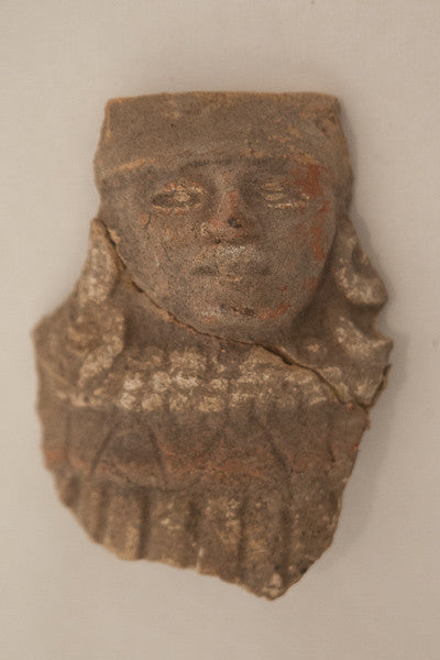 Ancient Mayan Ceramic Head