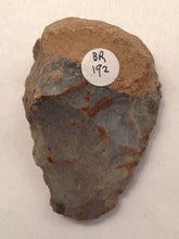 A small French Mousterian Handaxe with brown cortex and greyish surface
