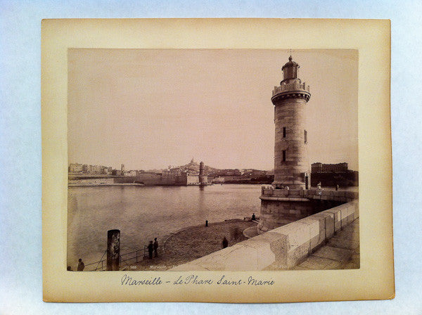 photo of a lighthouse, Marseille, France, circa 1890