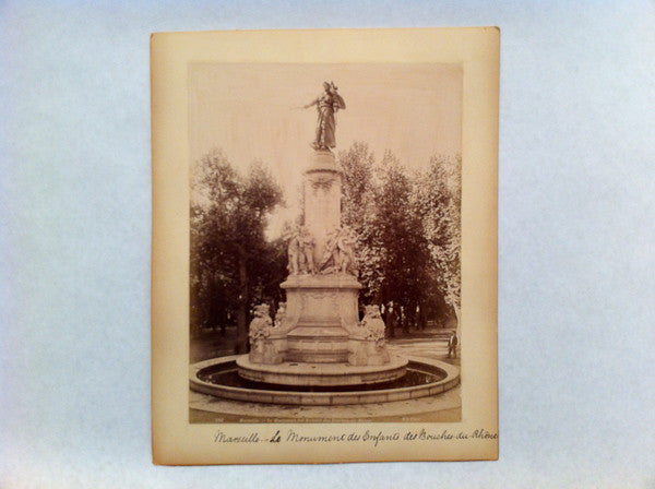 photo of a war monument, Marseille, France, circa 1890