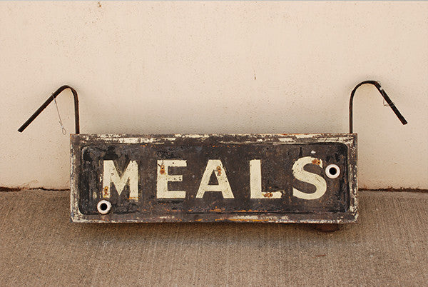 Meals Sign 1920-1930'S America