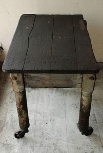 American Wooden Factory Table