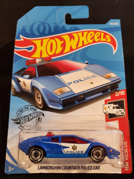 Hot Wheels - Lamborghini Countach Police Car - 2019