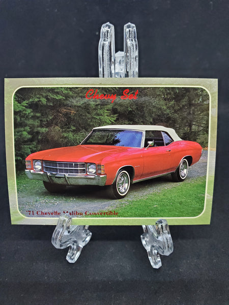 Collect-A-Card 1992 - 1971 Chevelle Malibu Convertible - Top Collectibles