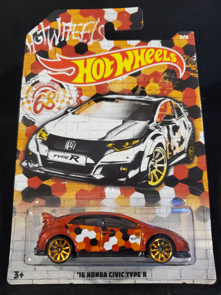 Hot Wheels - '16 Honda Civic Type R - 2019 Urban Camouflage Series