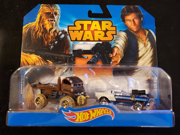Hot Wheels - Chewbacca & Han Solo - 2015 Star Wars Character Cars 2-Pack